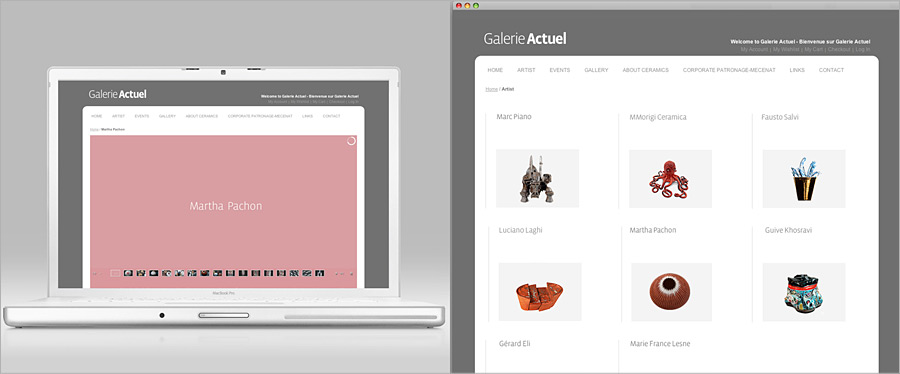 Galerie Actuel Website